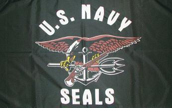 Flagge Fahne US Navy Seals 90 x 150 cm - Vorschau