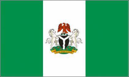 Flagge Fahne Nigeria mit Wappen 90 x 150 cm - Vorschau