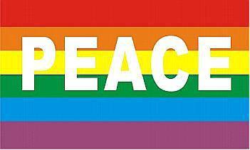 Flagge Fahne Peace 90 x 150 cm - Vorschau