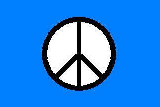 Flagge Fahne Peace blau 90 x 150 cm - Vorschau