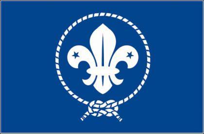 Flagge Fahne Pfadfinder Scouts blau 90 x 150 cm - Vorschau