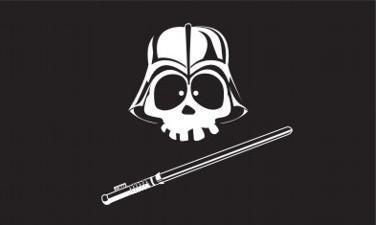 Flagge Fahne Pirat Darth Vader 90 x 150 cm - Vorschau