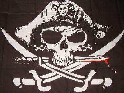 Flagge Fahne Pirat blutiger Dolch 90 x 150 cm