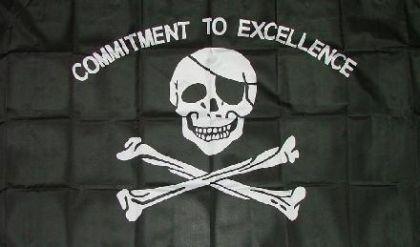 Flagge Pirat Commitment to exelence 90 x 150 cm - Vorschau