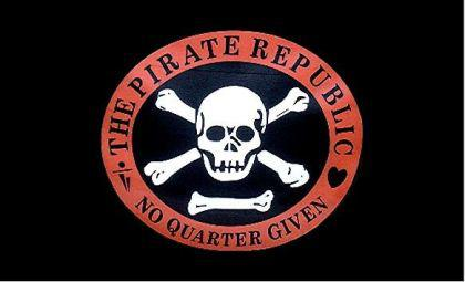 Flagge Fahne Pirate Republic 90 x 150 cm - Vorschau