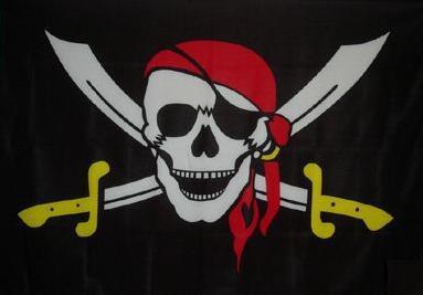 Flagge Fahne Pirat gelbe Säbel 90 x 150 cm - Vorschau