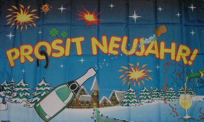 Flagge Fahne Prosit Neujahr 90 x 150 cm - Vorschau