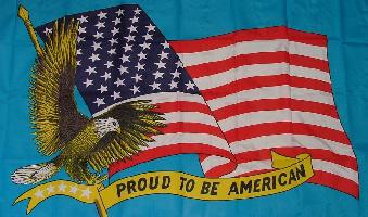 Flagge Fahne Proud to be American 90 x 150 cm
