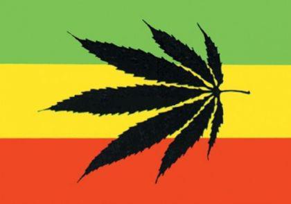 Flagge Fahne Rasta Cannabis 90 x 150 cm - Vorschau