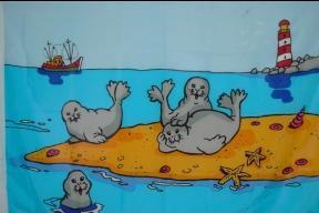 Flagge Fahne Robben auf Sandbank 90 x 150 cm - Vorschau