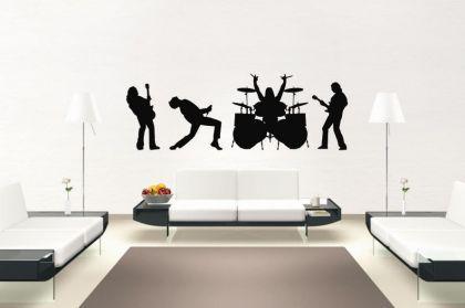 wandtattoo rock band kaufen bei. Black Bedroom Furniture Sets. Home Design Ideas