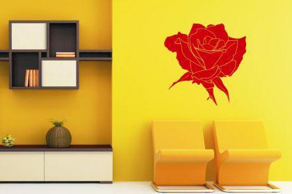 wandtattoo rose motiv nr 1 kaufen bei. Black Bedroom Furniture Sets. Home Design Ideas