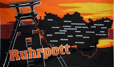 Flagge Fahne Ruhrpott Landkarte 90 x 150 cm - Vorschau