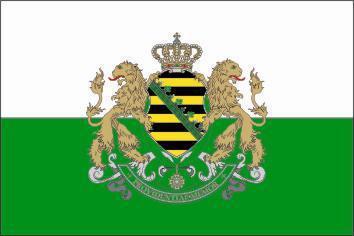 Flagge Fahne Sachsen Königreich 90 x 150 cm - Vorschau