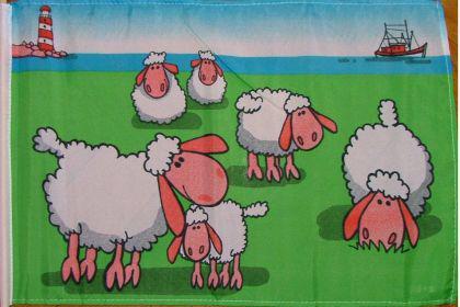 Flagge Fahne Schafe 90 x 150 cm - Vorschau
