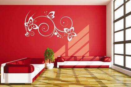 wandtattoo schmetterling ranke kaufen bei. Black Bedroom Furniture Sets. Home Design Ideas