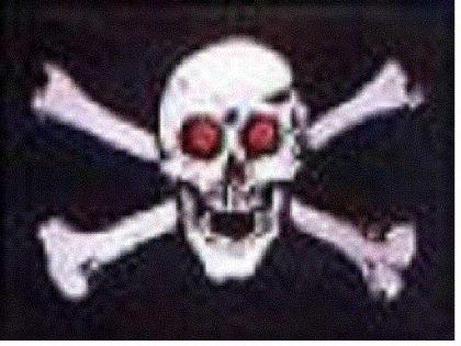 Flagge Fahne Pirat rote Augen 90 x 150 cm - Vorschau
