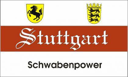 Flagge Fahne Stuttgart Schwabenpower 90 x 150 cm - Vorschau