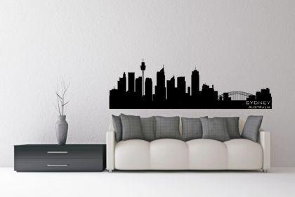 wandtattoo skyline sydney g nstig kaufen bei yatego. Black Bedroom Furniture Sets. Home Design Ideas