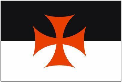 Flagge Fahne Templer 90 x 150 cm - Vorschau