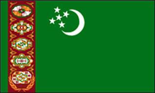 Flagge Fahne Turkmenistan 90 x 150 cm - Vorschau