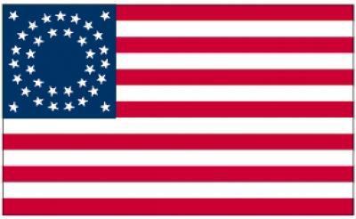 Flagge Fahne USA 35 Sterne 90 x 150 cm
