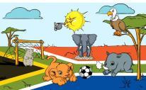 Flagge Fahne WM Tiere 90 x 150 cm