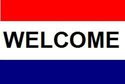 Flagge Fahne Welcome 90 x 150 cm