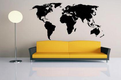 wandtattoo weltkarte kaufen bei. Black Bedroom Furniture Sets. Home Design Ideas