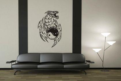 Wandtattoo Yin Yang Drachen Motiv Nr. 1