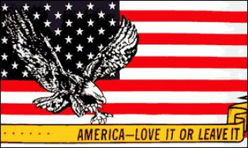 Flagge Fahne America love it leave it 90 x 150 cm - Vorschau