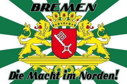 Flagge Fahne Bremen Macht im Norden 90 x 150 cm