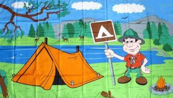 Flagge Fahne Camper 90 x 150 cm - Vorschau