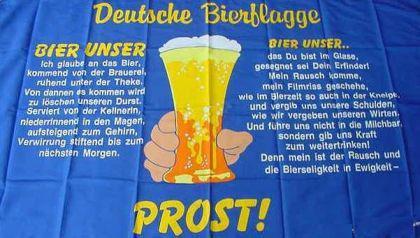 Flagge Fahne Deutsche Bierflagge 90 x 150 cm