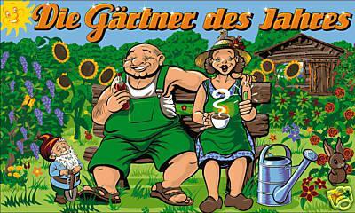 Flagge Fahne Die Gärtner des Jahres 90 x 150 cm
