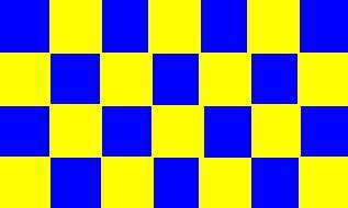 Flagge Fahne Karoflagge blau gelb 90 x 150 cm - Vorschau