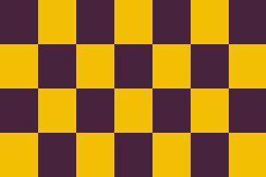 Flagge Fahne Karoflagge lila gelb 90 x 150 cm - Vorschau