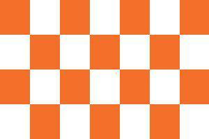 Flagge Fahne Karoflagge orange weiß 90 x 150 cm