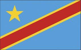 Flagge Fahne Kongo Demokratische Rep. 90 x 150 cm