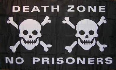 Flagge Fahne Pirat Death Zone 90 x 150 cm - Vorschau