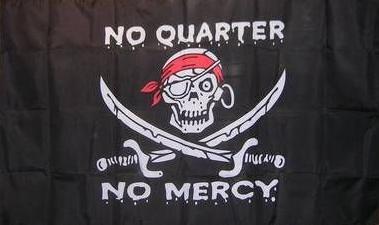 Flagge Fahne Pirat No Quarter No mercy 90 x 150 cm - Vorschau