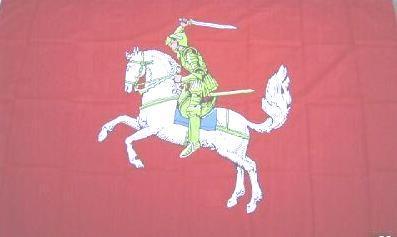 Flagge Fahne Ritter mit Pferd 90 x 150 cm - Vorschau