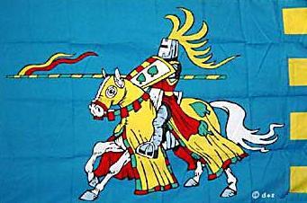 Flagge Fahne Ritter blau 90 x 150 cm - Vorschau
