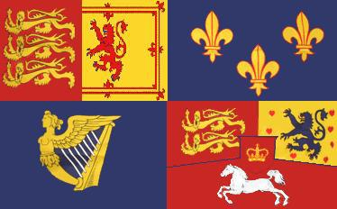 Flagge Fahne Royal Banner 1714 - 1801 90 x 150 cm