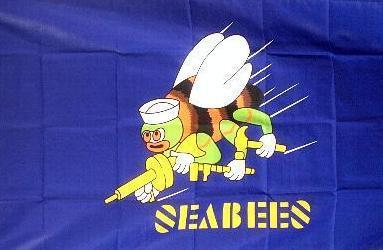 Flagge Fahne Seabees 90 x 150 cm - Vorschau