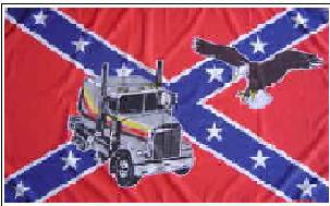 Flagge Fahne Südstaaten Truck Adler 90 x 150 cm - Vorschau