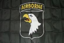 Flagge Fahne 101st Airborne schwarz 90 x 150 cm
