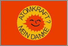 Flagge Fahne Atomkraft Nein Danke BRD 90 x 150 cm