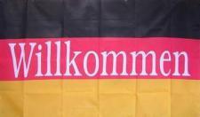Flagge Fahne Deutschland Willkommen 90 x 150 cm