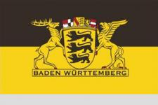Flagge Fahne B W Landessiegel 90 x 150 cm